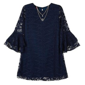 Girls 7-16 IZ Amy Byer Lace Bell Sleeve A-Line Dre