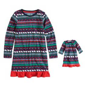 Girls 7-16 Jammies For Your Families Happy Holiday