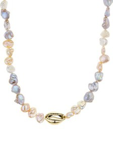 AQUA - Shell & Cultured Freshwater Pearl Necklace,