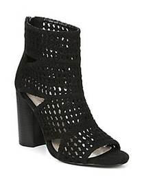 Fergie Lucia Basketweave Booties BLACK