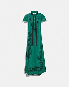 Coach embroidered western jacquard dress