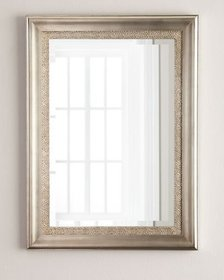 Silver-Framed Mirror