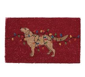 Pottery Barn Dog with Lights Doormat
