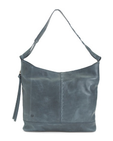 BORN Distressed Leather Labelle Hobo