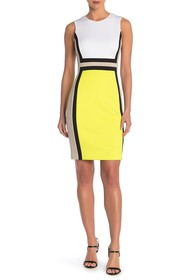 Modern American Designer Colorblock Sheath Dress