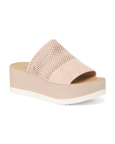 DR. SCHOLL'S Comfort Platform Perforated Sandals