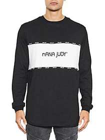 Nana Judy Mayfair Long-Sleeve Cotton Tee BLACK
