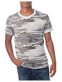 ALTERNATIVE Camo-Print Jersey Tee OATMEAL CAMO