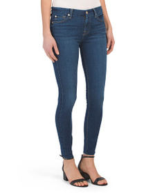 7 FOR ALL MANKIND The Mid Rise Ankle Skinny Jeans