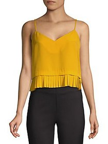 French Connection Crepe Frill Tank Top MUSTARD SEE