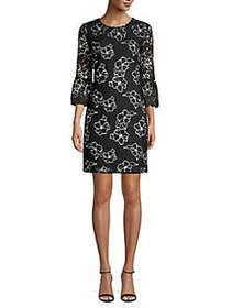 Karl Lagerfeld Paris Embroidered Lace Cotton Blend