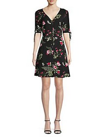 Vero Moda Floral Short Sleeve Fit-&-Flare Dress BL