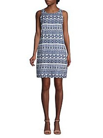 Tommy Bahama Sleeveless Printed Linen Dress ISLAND