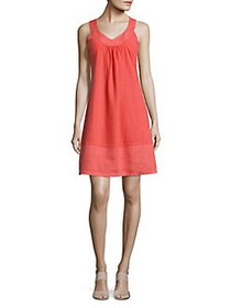 Tommy Bahama Arden Sleeveless Flounce Dress BURNT