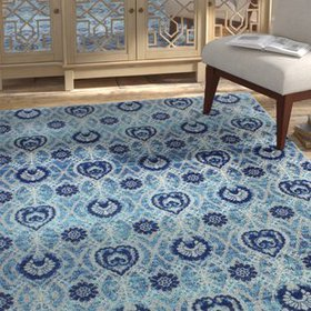 Arlingham Gray/Blue Area Rug