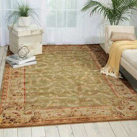 Chalet Light Green Area Rug