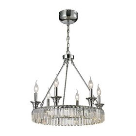 Korth 6-Light Wagon Wheel Chandelier