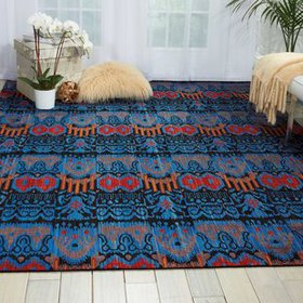 Moroccan Blue Area Rug