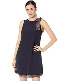 Tahari by ASL Stretch Crepe Shift with Ditsy Flora