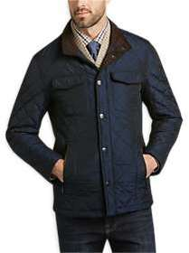 Pronto Uomo Navy Quilted Modern Fit Jacket