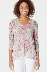 Airy Floral Pullover