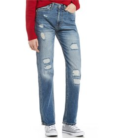 Calvin Klein Jeans Destructed High Rise Straight J