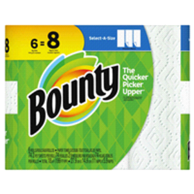 Bounty Select-A-Size Paper Towels, White, 6 Big Ro