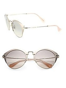 Miu Miu 52MM Metal Phantos Sunglasses BLUSH