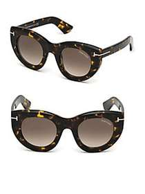 Tom Ford Marcella 48MM Thick Cat-Eye Sunglasses HA