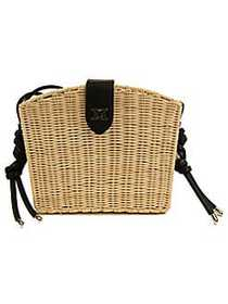 Sam Edelman Layla Straw Basket Shoulder Bag NATURA