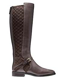 Cole Haan Riding Style Two Tone Boots JAVA