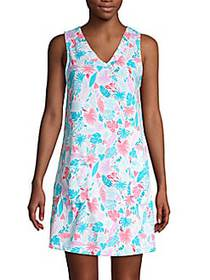 Jane And Bleecker Leaf-Print Nightgown EXOTIC