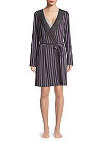 Saks Fifth Avenue COLLECTION Lori Striped Robe STR