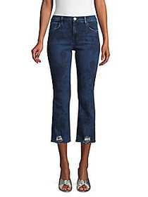 J Brand Selena Mid-Rise Cropped Bootcut Jeans BLUE