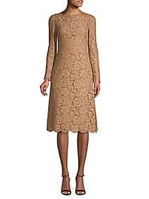 Valentino Floral Lace Dress LATTE