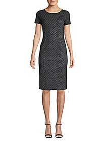 Max Mara Felino Line & Dot Print Sheath Dress ULTR