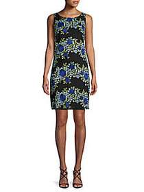 Karl Lagerfeld Paris Embroidered Sheath Dress BLAC