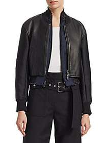 3.1 Phillip Lim 2-in-1 Leather Zip-Front Jacket BL