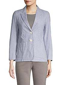 Weekend Max Mara Abazia Striped Blazer ULTRAMARINE