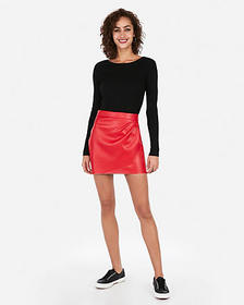 Express ribbed bateau neck fitted sweater