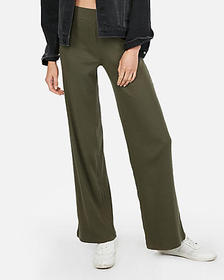 Express high waisted modern rib wide leg pant
