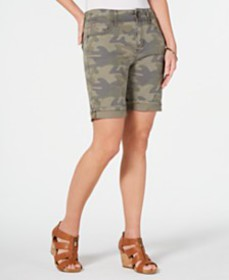 Style & Co Two-Button Denim Shorts, Created for Ma