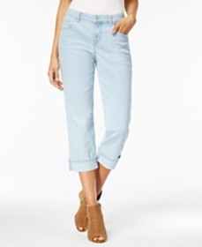 Style & Co Curvy Cuffed Capri Jeans, Created for M