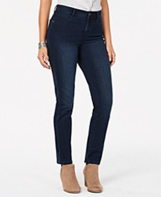 Style & Co Tummy-Control Slim-Leg Jeans, Created f