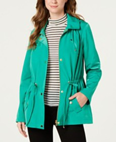 Charter Club Water-Resistant Hooded Anorak Jacket,