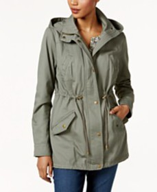 Style & Co Cotton Hooded Utility Jacket, Created f