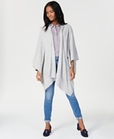 Charter Club Solid Cashmere Wrap, Created for Macy