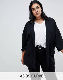 ASOS DESIGN Curve easy relaxed blazer in textured