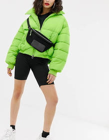 ASOS DESIGN mesh fanny pack with neon tipping