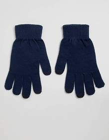 ASOS DESIGN touch screen gloves in recycled polyes